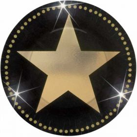 Hollywood Star Attraction Metallic Party Plates 17.8cm 8pk
