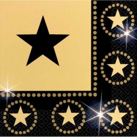 Hollywood Star Attraction Luncheon Party Napkins 16pk