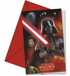 Star Wars Party Invitations with Envelopes, pk6