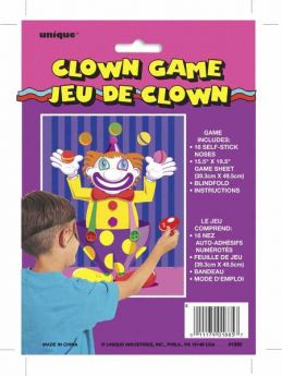 Stick The Nose on the Clown Party Game