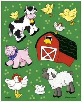Farm Friends Party Sticker Sheets (4 Sheets)