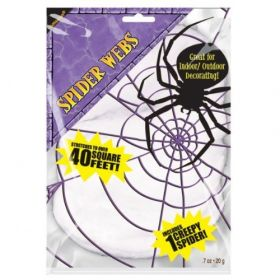 Stretchable Spiders Web White - Includes 1 Spider