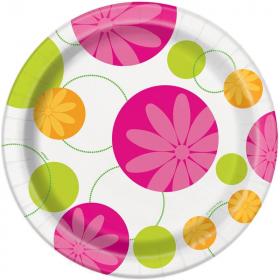 Summer Flower Dinner Plates 23cm, pk8