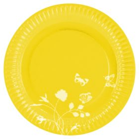 Summer Yellow Party Paper Plates 23cm, pk8