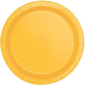 Sunflower Yellow Paper Plates 23cm, pk8