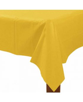 Sunshine Yellow Plastic Tablecover