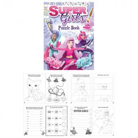 Super Girls Puzzle Fun Book