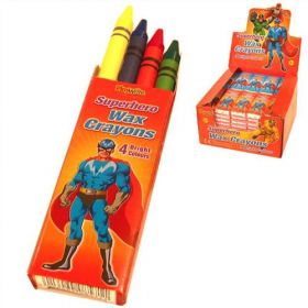 Super Hero Wax Crayons (1 Pack)