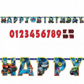 Blaze and the Monster Machines Customised Add Age Letter Banner