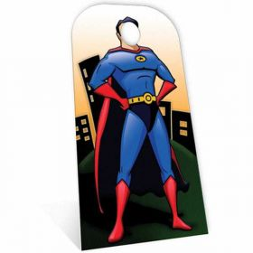Superhero Stand In Cardboard Cutout