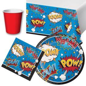Superhero Tableware Party Packs