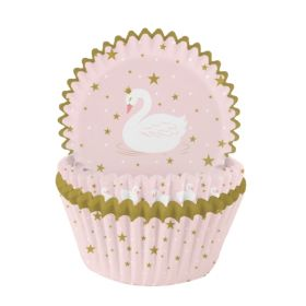Swan Party Cupcake Cases, pk75