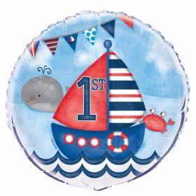 Nautical 1st Birthday Foil Balloon