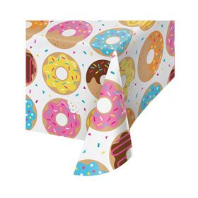 Donut Time Plastic Tablecover 1.37m x 2.6m