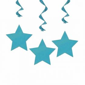 Teal Star Hanging Swirls