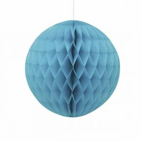 Honeycomb Caribbean Teal Ball Party Decoration 8""