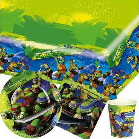 Teenage Mutant Ninja Turtles  Party Pack For 8 including tableware and 8 filled party bags