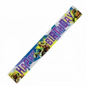 Teenage Mutant Ninja Turtles Happy Birthday Foil Banner