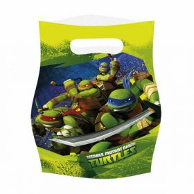 Teenage Mutant Ninja Turtles Plastic Party Bags, pk6