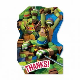 Teenage Mutant Ninja Turtles Thank You Cards Pk8