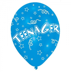 "Teenager Latex Balloons 11"", pk6"