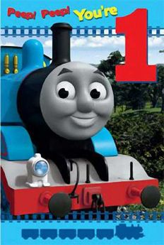 Thomas the Tank Engine Age 1 Birthday Card