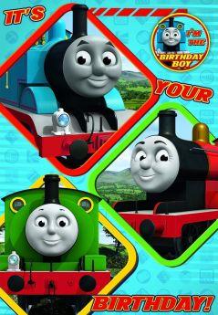 Thomas Birthday Card with Badge