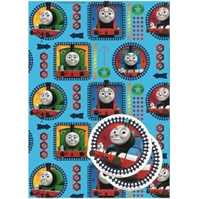 Thomas The Tank Engine 2 Sheets Gift Wrap
