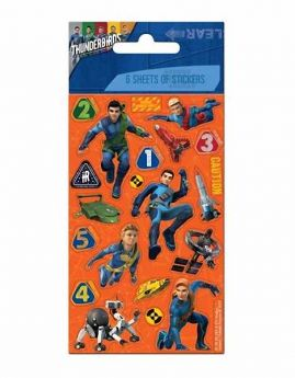 Thunderbirds Party Bag sticker pack 6 stickers
