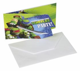 Teenage Mutant Ninja Turtles Party Invitations, pk6