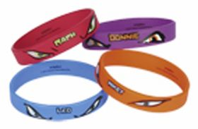 Teenage Mutant Ninja Turtles Rubber Bracelets pk4