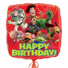 Disney Toy Story Square Happy Birthday Foil Balloon