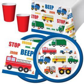 Traffic Jam Party Tableware Pack