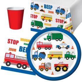 Traffic Jam Party Tableware Pack for 8