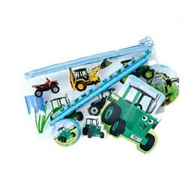 Tractor Ted Flat Pencil Case with Contents