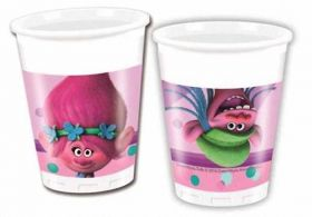 Trolls Plastic Party Cups pk8
