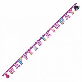 Trolls Happy Birthday Card Letter Banner 1.9m