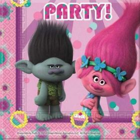 Trolls Paper Party Napkins pk20