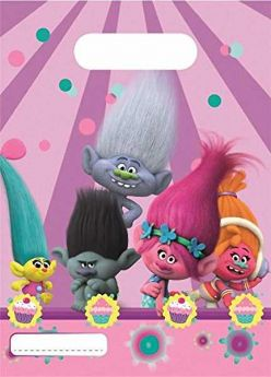 Trolls Plastic Party Bags pk6