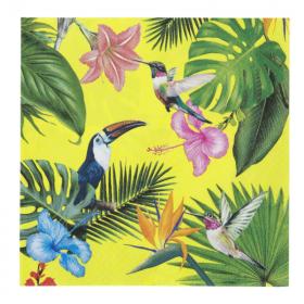 Tropical Fiesta Bright Party Napkins, pk20