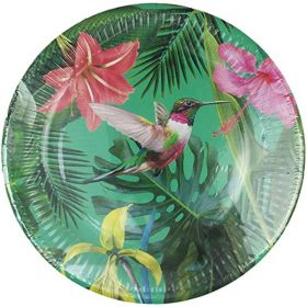 Tropical Fiesta Medium Bright Paper Plates 23cm, pk12