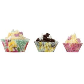Utterly Scrumptious Floral Cupcake Cases, pk60