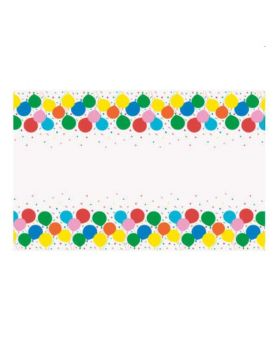 Colourful Balloons Party Tablecover 1.37m x 2.37m