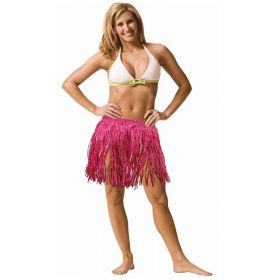 Pink Tissue Hula Skirt Large Adult Size