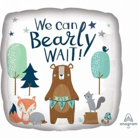 Bear-ly Wait Standard Foil Balloon 17''