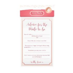 Advice for The Bride Cards, pk4