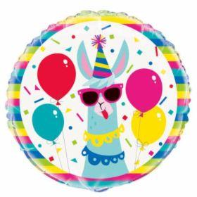 Llama Standard Foil Balloon 18''