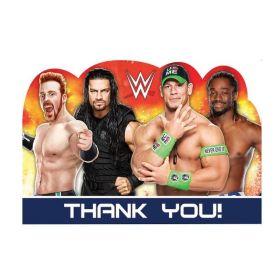 WWE Die-Cut Thank you Cards, pk8