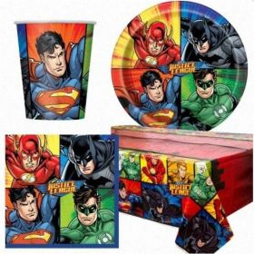 Justice League Party Tableware Pack for 8