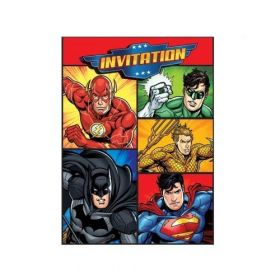 Justice League Party Invitations, pk8